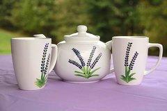 Lavender Handpainted Tea Set