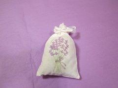 Large Cotton, Lavender-Embroidered Sachet