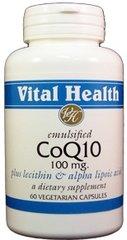 Co-Q-10 100 mg, Emulsified w/Lecithin & Alpha Lipoic Acid 60 caps