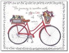 Blank inside - Red Bike Greeting Card