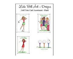 Golf Assorted Boxed Note Cards