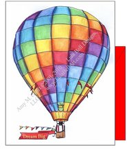 Rainbow Hot Air Balloon Boxed Note Cards