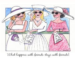 Friendship - What happens with friends, stays with friends Greeting Card