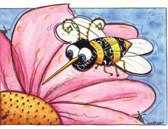 Buzzy Bee Friendship Greeting Card