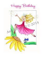 Fairy Dancer Birthday Greeting Card