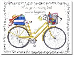 Blank inside - Yellow Bike Greeting Card