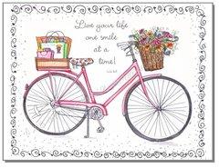 Blank inside - Pink Bike Greeting Card
