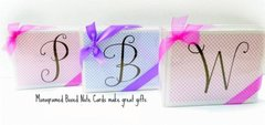 Single Initial - Boxed Note Cards