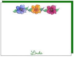 Flower Trio Flat cards