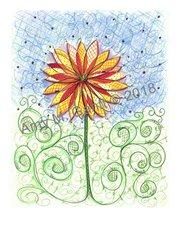 Yellow Flower Birthday Greeting Card