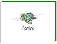 Coastal - Turtle Princess Boxed Note Cards