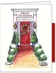 The Red Door Christmas Card