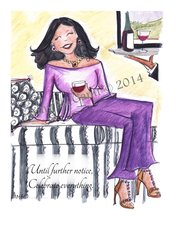 Cheers - Me and My Merlot Greeting Card
