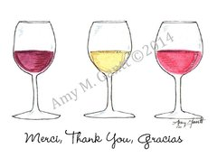 Wine Thank You Greeting Card