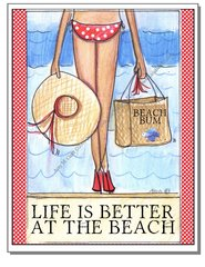 Beach Bum Boxed Note Cards