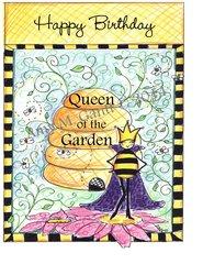 Queen of the Garden Birthday Greeting Card