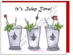 Mint Julep ~ It's Julep Time! Note Cards