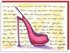 Pink Stiletto Friendship Greeting Card
