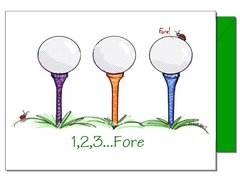 Golf Trio Boxed Note Cards