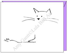 Cat Mouse Boxed Note Cards