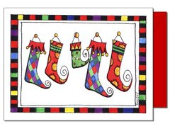 The Stockings Christmas Greeting Card