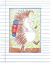 Hedgehog Hiking Boxed Note Cards