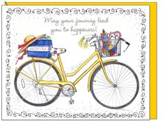 Bike - Yellow Boxed Note Cards