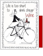 Life is too short to drink cheap wine Bike Boxed Note Cards