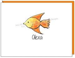 Coastal - Orange Fish Boxed Note Cards
