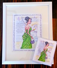 For Beautiful eyes...Framed Print and Card Gift Set