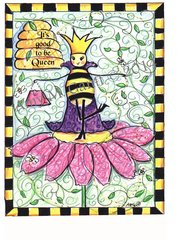 """Queen Bee """"It's good to be Queen"""" Boxed Note Cards"""
