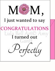 Perfect Mom Greeting Card