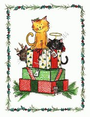 Kitty Special Delivery Christmas Card