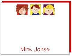 Personalized Teacher - Kids Flat Cards
