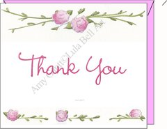 Rose Garden Thank You Boxed Note Cards