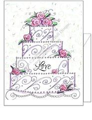 Wedding - Love Cake Greeting Card