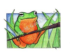 Frog Hangout Friendship Greeting Card