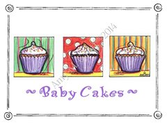 Baby - Babycakes Greeting Card