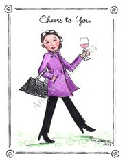 Cheers - Cab is Fab Greeting Card