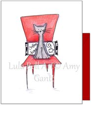 Miss You - Coffee Cat Greeting Card