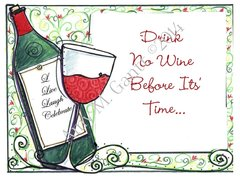 Cheers - Wine Time Greeting Card