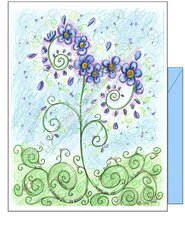 Miss You - Forget Me Not Greeting Card