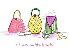 Pretty Purses Friendship Greeting Card