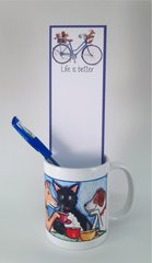 Dogs Drinking Coffee Mug