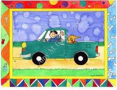 Green Truck Birthday Greeting Card
