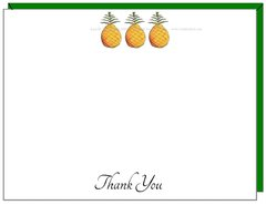 Thank You - Pineapple Trio Boxed Flat Cards