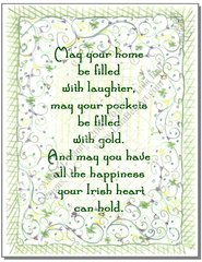 Irish Flowers and Blessing St. Patrick's Day Greeting Card
