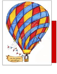 Carnival Hot Air Balloon Boxed Note Cards