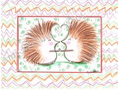 Hedgehog Buddies Friendship Greeting Card