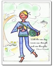 "Yoga Girl ""With the new day..."" Print"